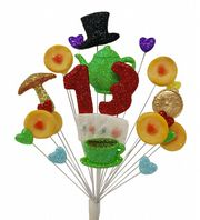 Tea party 13th birthday cake topper decoration - free postage